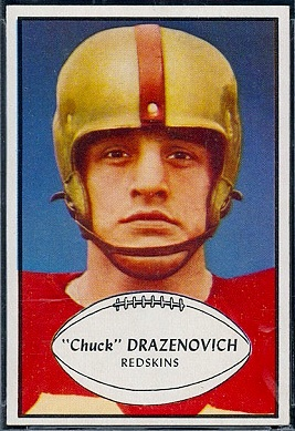 Chuck Drazenovich 1953 Bowman football card
