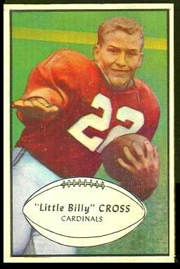 Billy Cross 1953 Bowman football card