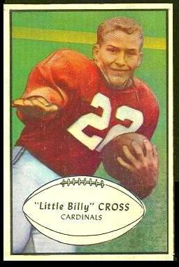 Billy Cross 1953 Bowman football card