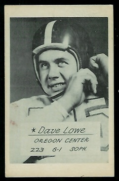 Dave Lowe 1953 Oregon football card
