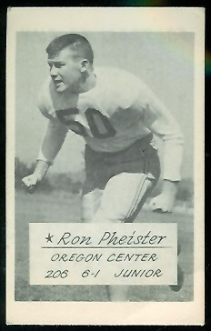 Ron Pheister 1953 Oregon football card