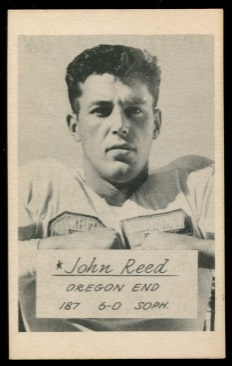 John Reed 1953 Oregon football card
