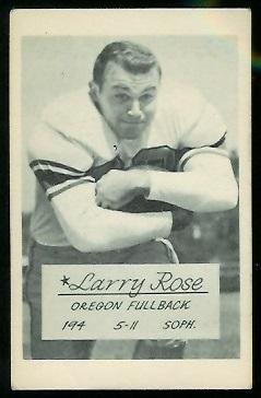 Larry Rose 1953 Oregon football card