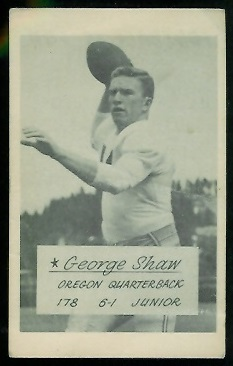 George Shaw 1953 Oregon football card