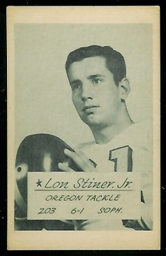 Lon Stiner 1953 Oregon football card