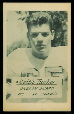 Keith Tucker 1953 Oregon football card