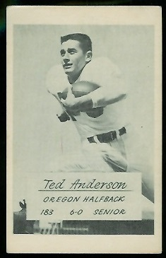 Ted Anderson 1953 Oregon football card