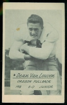 Dean Van Leuven 1953 Oregon football card