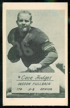 Cece Hodges 1953 Oregon football card