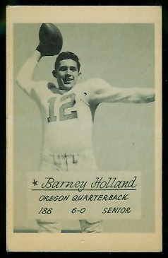 Barney Holland 1953 Oregon football card