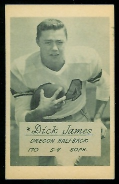 Dick James 1953 Oregon football card