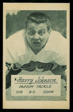 Harry Johnson 1953 Oregon football card