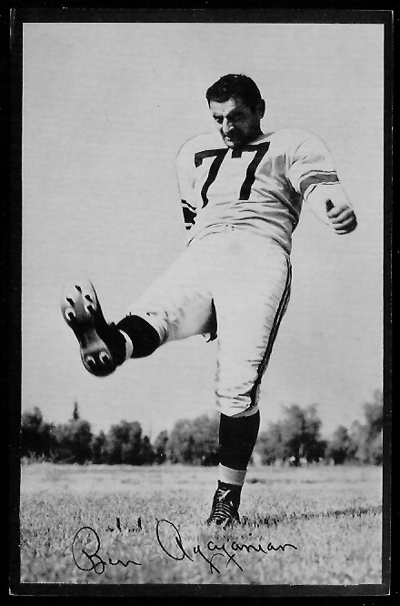 Ben Agajanian 1953 Rams Team Issue football card