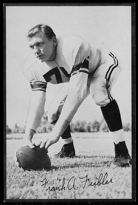 Frank Fuller 1953 Rams Team Issue football card
