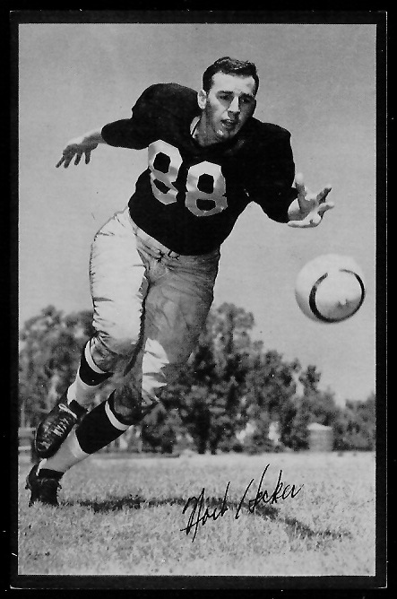 Norb Hecker 1953 Rams Team Issue football card