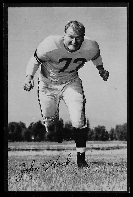 John Hock 1953 Rams Team Issue football card