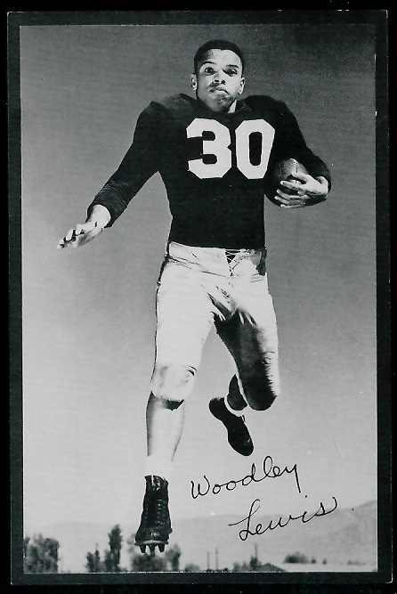 Woodley Lewis 1953 Rams Team Issue football card
