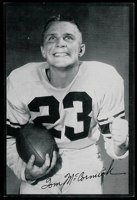 Tom McCormick 1953 Rams Team Issue football card