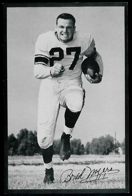 Brad Myers 1953 Rams Team Issue football card