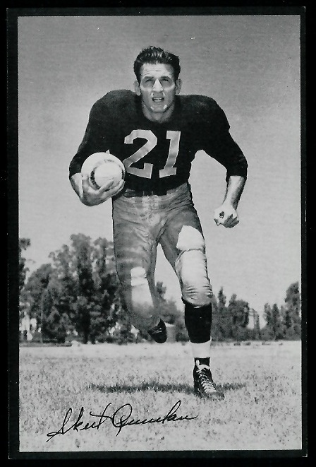 Volney Quinlan 1953 Rams Team Issue football card