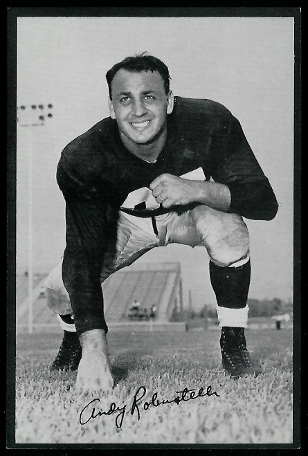 Andy Robustelli 1953 Rams Team Issue football card