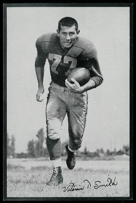Vitamin Smith 1953 Rams Team Issue football card