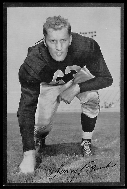 Larry Brink 1953 Rams Team Issue football card