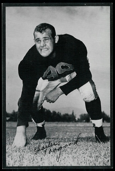 Charles Toogood 1953 Rams Team Issue football card