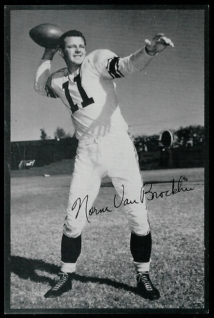 Norm Van Brocklin 1953 Rams Team Issue football card
