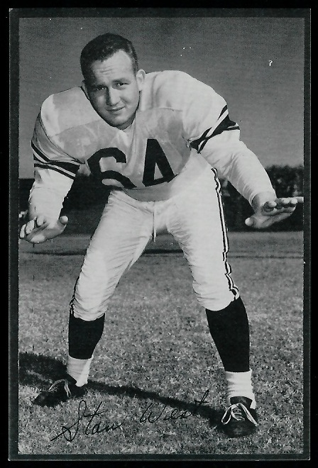 Stan West 1953 Rams Team Issue football card