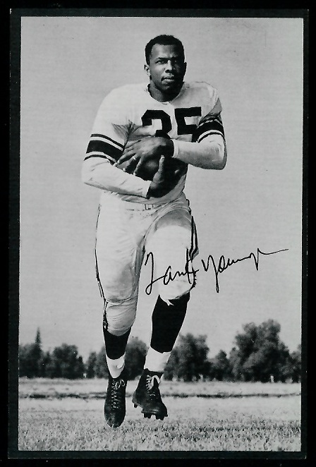 Tank Younger 1953 Rams Team Issue football card