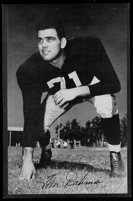 Tom Dahms 1953 Rams Team Issue football card
