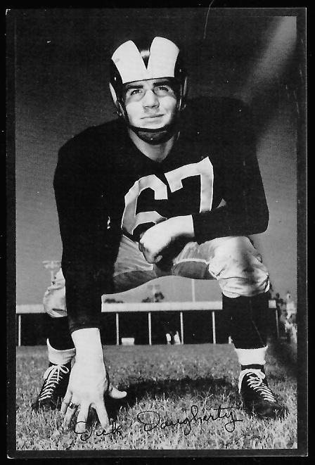 Dick Daugherty 1953 Rams Team Issue football card