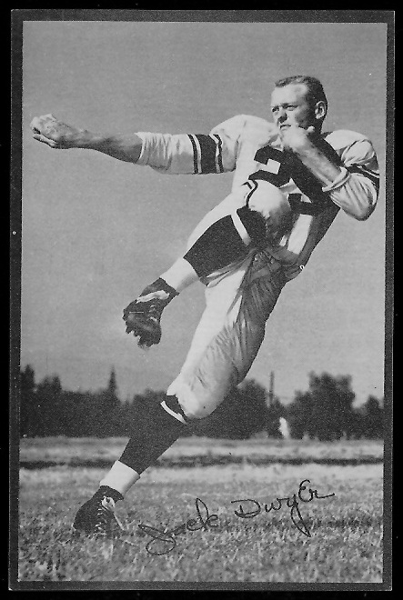 Jack Dwyer 1953 Rams Team Issue football card