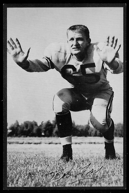 Bob Fry 1953 Rams Team Issue football card
