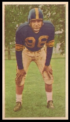 Bud Korchak 1954 Blue Ribbon football card