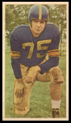 Tom Lumsden 1954 Blue Ribbon football card