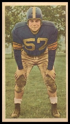 Winty Young 1954 Blue Ribbon football card