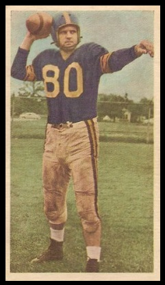 Joe Zaleski 1954 Blue Ribbon football card