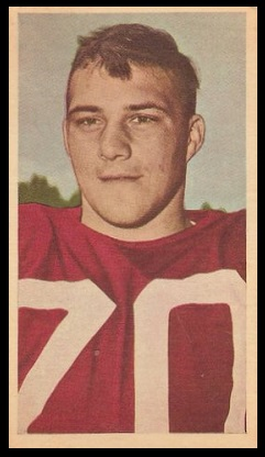 Bob Simpson 1954 Blue Ribbon football card