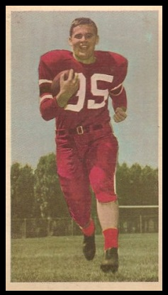 Tom McHugh 1954 Blue Ribbon football card