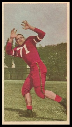 Clyde Bennett 1954 Blue Ribbon football card