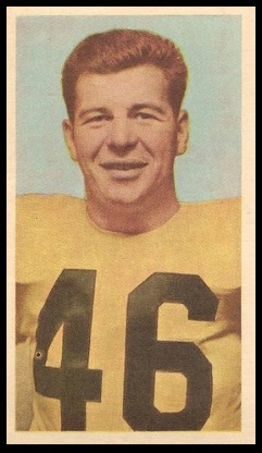 Bill Berezowski 1954 Blue Ribbon football card