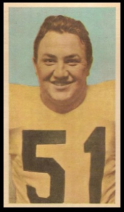 Eddie Bevan 1954 Blue Ribbon football card