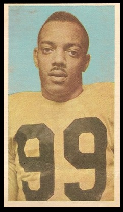 Bernie Custis 1954 Blue Ribbon football card