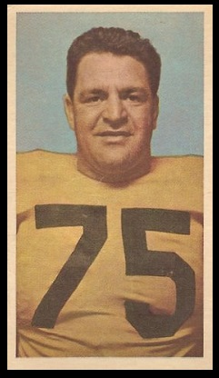 Vince Mazza 1954 Blue Ribbon football card