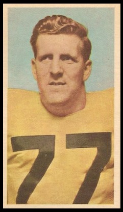Ralph Toohy 1954 Blue Ribbon football card