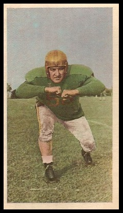 Bill Zock 1954 Blue Ribbon football card