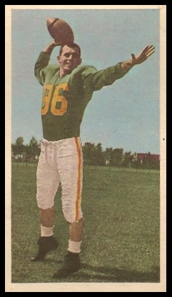 Bernie Faloney 1954 Blue Ribbon football card