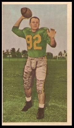 Ray Willsey 1954 Blue Ribbon football card